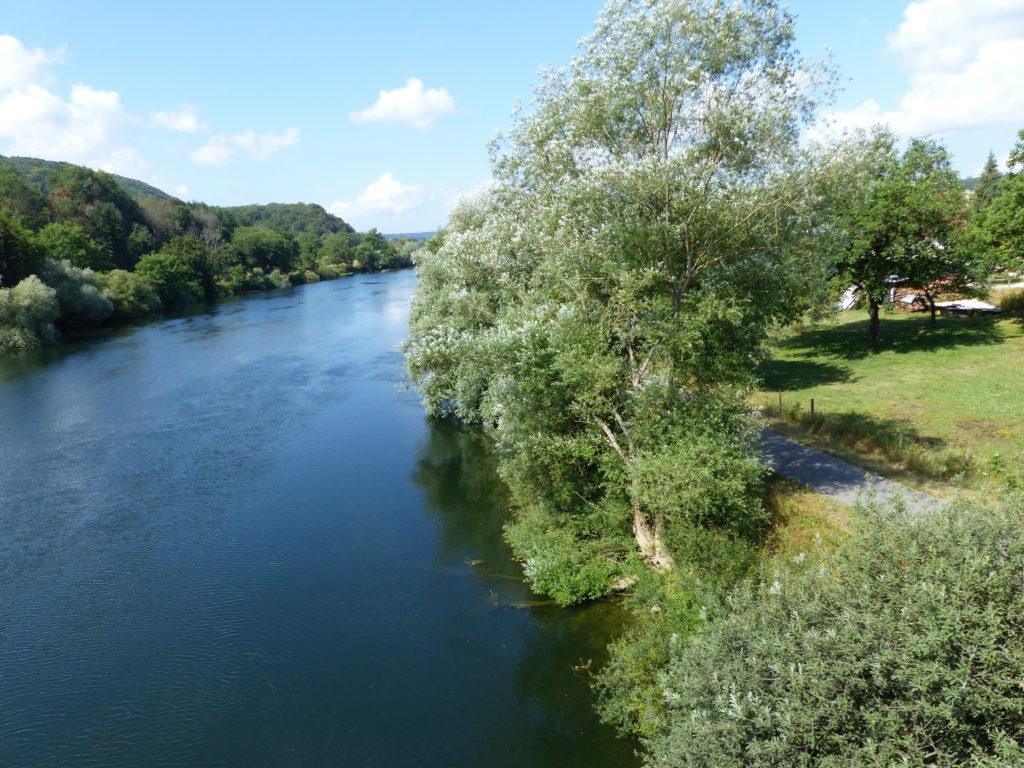 La vélo route le long du Doubs à Vaire